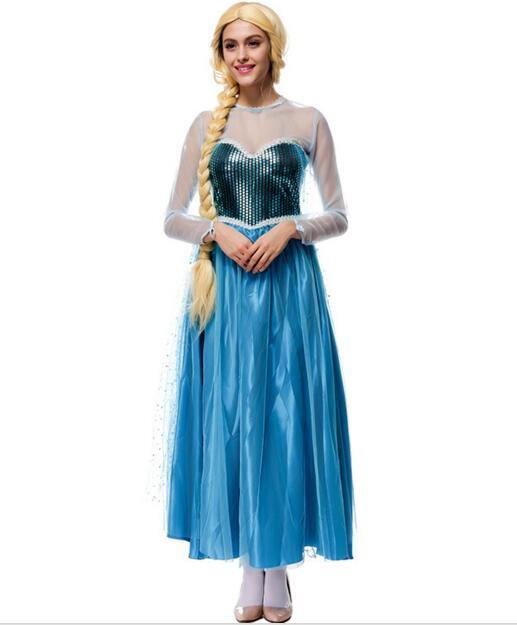 Princess Anna Elsa Queen Girls anime cosplay mermaid paillette Dress Cinderella maxi dress Halloween costumes fantasias feminina