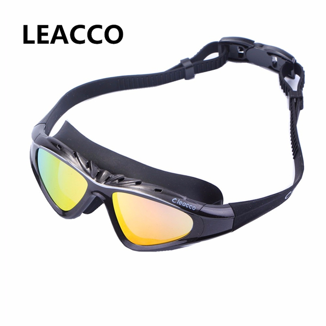 0f672ae454a Professional Large frame swimming glasses Prescription Optical Myopia  eyewear diopter Swim pool Silicone Swimming goggles