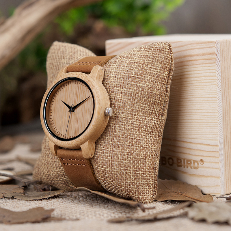 Image 5 - BOBO BIRD Watch Women relogio masculino Quartz Watches Men Bamboo Wood Couple Wristwatches Ideal Gifts Items Drop Shipping-in Lover's Watches from Watches