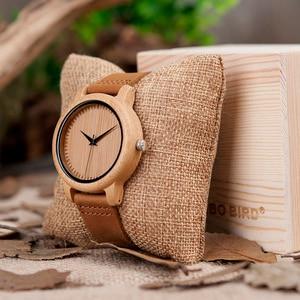 Image 5 - BOBO BIRD montre à Quartz pour femmes, montres à Quartz, bambou, cadeaux, collection livraison directe