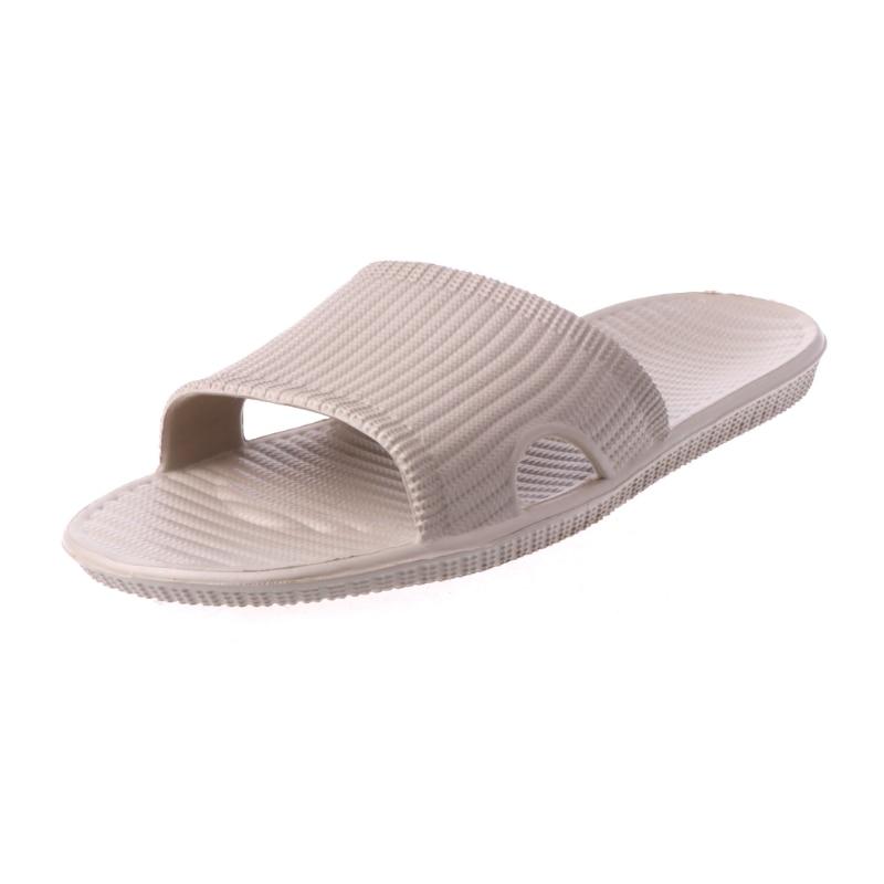 цена на KLV 2018 New Men's Slide Indoor Home Slip-on Sandals Bath Shower Wear Slippers Camel