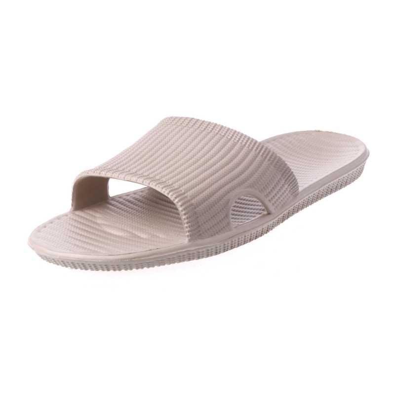 61d9c37c570377 KLV 2018 New Men s Slide Indoor Home Slip-on Sandals Bath Shower Wear  Slippers Camel