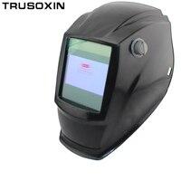 Fora de controle Big vista eara 4 sensor de arco auto escurecimento Solar de solda TIG MIG MMA máscara/capacete/soldador cap/lente de soldagem/máscara facial