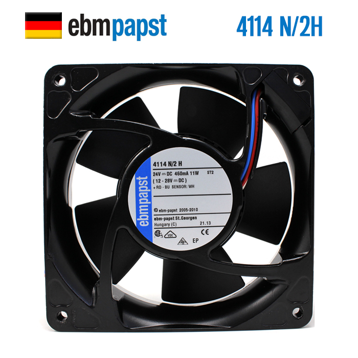 NEW ebmpapst PAPST 4114N/2H 12038 24V 11W aluminum frequency cooling fanNEW ebmpapst PAPST 4114N/2H 12038 24V 11W aluminum frequency cooling fan