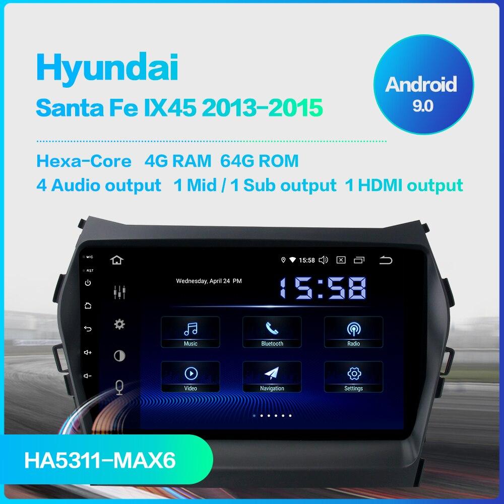 Flash Deal Dasaita Car Radio 1 Din Android 9.0  for Hyundai IX45 2013 2014 2015 Autoradio 64GB ROM MP3 HDMI Car Stereo 1