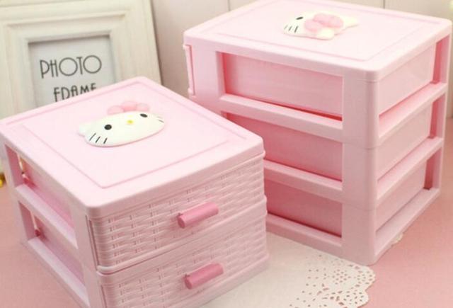 Desktop cosmetics jewelry storage box small items storage box toy