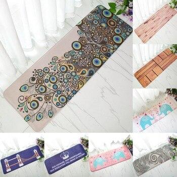 Chambre décorative tapis canapé Table basse tapis de sol Long cuisine huile Anti-sale paillasson 40*120 cm flanelle anti-dérapant tapis extérieur