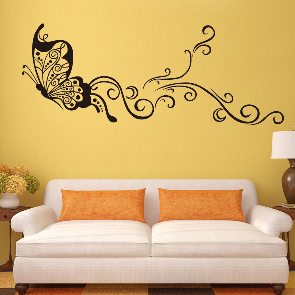 Butterfly wall stickers creativity personality wall decoration ...