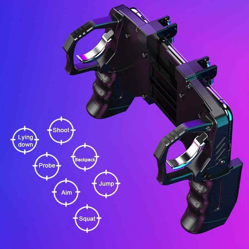 PUGB yardımcı 4 parmak bağlantı oyun kolu barış Elite hızlı çekim düğmesi denetleyicisi için Survival kuralları oyun tetik