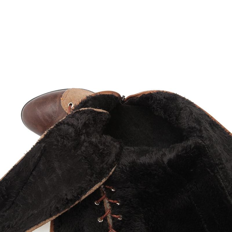 Militar Invierno Pie Mujeres Botas Redonda La Hasta Diseño Tacón Negro Nuevas Del Size48 Atado Alto De brown Plus Moda gris Zapatos Dedo Kcenid verde Rodilla Cruzado Punk 8F7Iqw