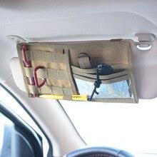 Tactical MOLLE Sun Visor Panel Organizer Pouch Holder Multifunction Universal CD Bag Storage Pocket