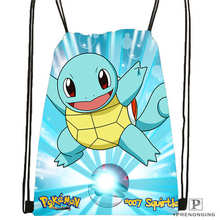 Custom pokemon pikachu 02 Drawstring Backpack Bag Cute Daypack Kids Satchel Black Back 31x40cm 180611 01