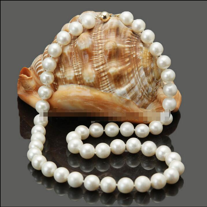 Wholesale price 16new ^^^^stunning! 10-11mm white freshwater cultured pearl necklace lengthWholesale price 16new ^^^^stunning! 10-11mm white freshwater cultured pearl necklace length