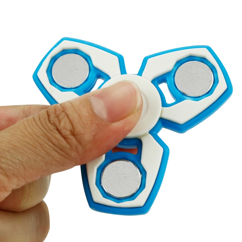 Colorful Handspinner Plastic EDC Hand Spinner For Autism and ADHD Fidget Rotating Long Time Anti Stress Toys