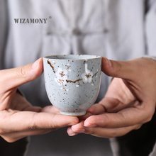 1PCS WIZAMONY Hand P Chinese Ru Kiln Porcelain Gaiwan ChinaTeacups Porcelain Bowl China Tea Pot Celadon Teacup