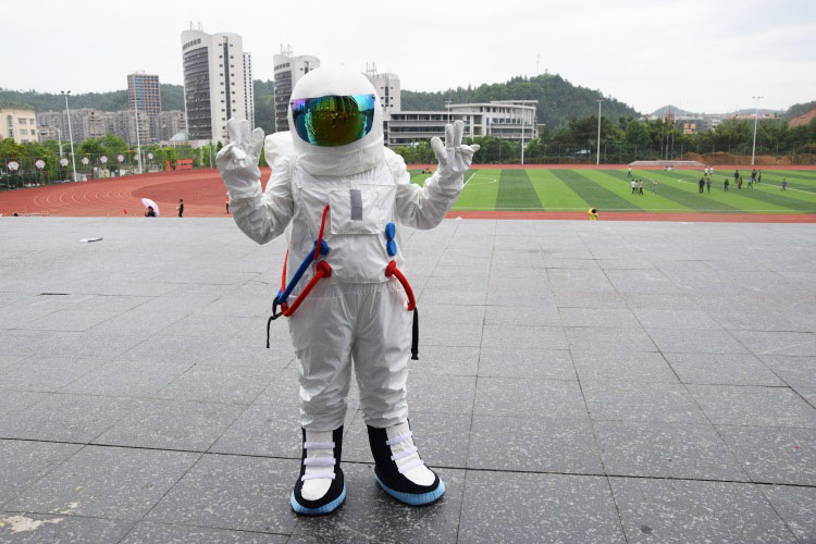 Adaptable High Quality Space Suit Mascot Costume Astronaut Mascot Costume With Backpack With Logo Glove,shoes, Free Shipping Adult Size