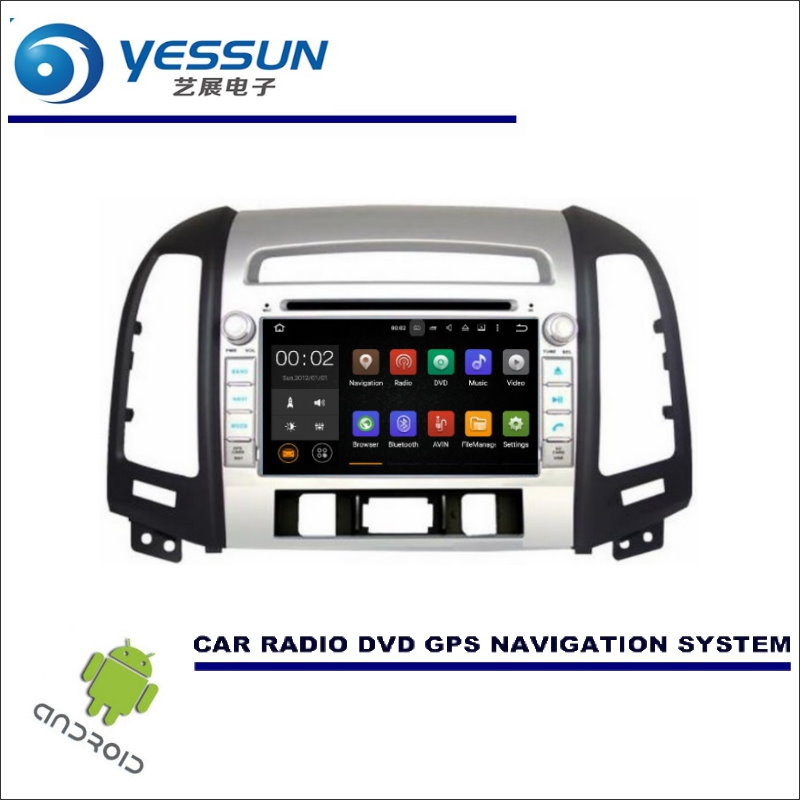 YESSUN For Hyundai Santa Fe 2006~2012 DVD CD GPS Player Radio Navi Stereo HD Screen - Wince / Android Car Navigation Multimedia yessun android car navigation gps for hyundai santa fe 2006 2012 audio video hd touch screen stereo multimedia player no cd dvd