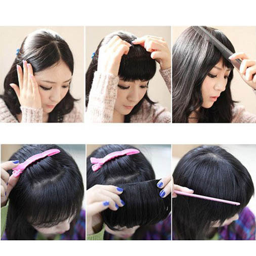 Short straight front neat bangs clip in clip on bang fringe hair short straight front neat bangs clip in clip on bang fringe hair extensions 100 real natural hair piece us free shipping on aliexpress alibaba group pmusecretfo Image collections