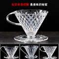 V60 ręczny filtr do przelewowego zaparzania kawy żywica wlać kroplownik kawowy papier stożek kroplówki filtry profesjonalnego przygotowania kawy warzenia sprytny kroplownik 101/102