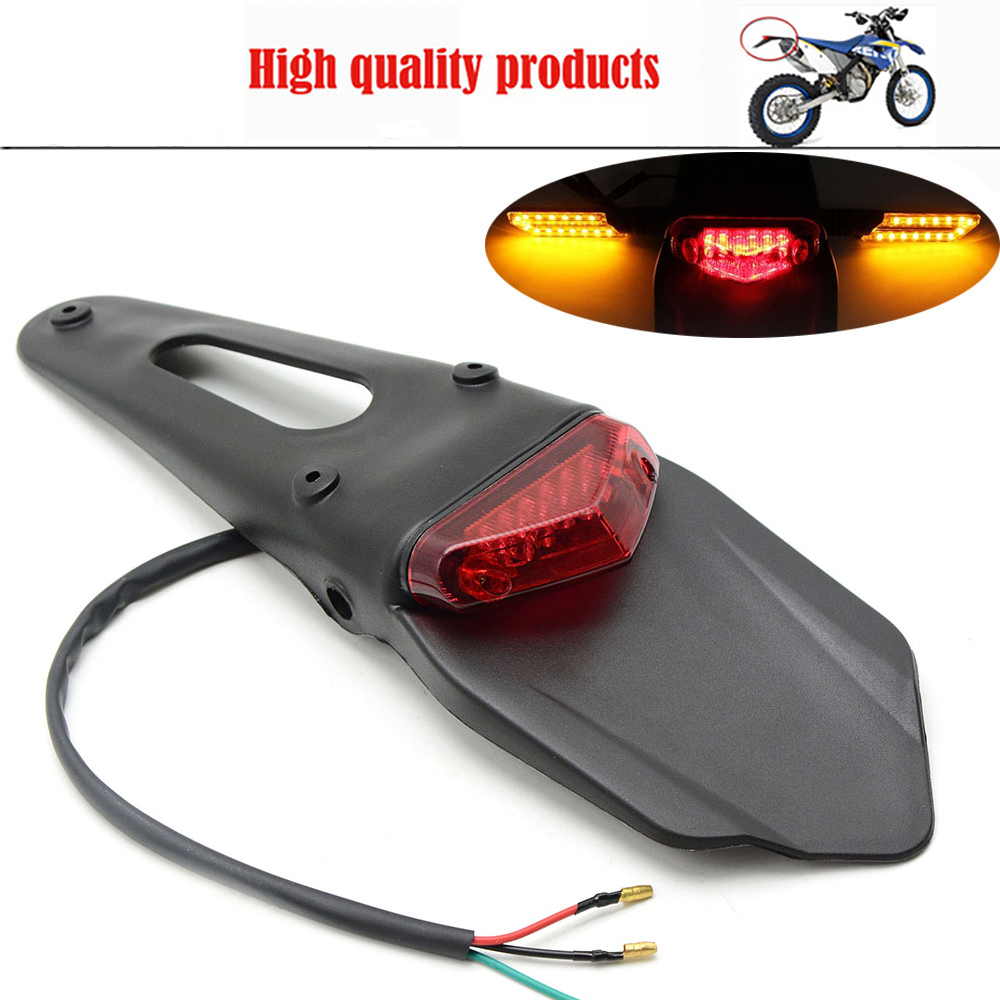 For KTM EXC Motorcycle LED Brake Tail Light Rear Fender Back Splash Guard Motocross Motorcycle Off Road Bike Motorbike Lights