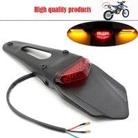 Para ktm exc motocicleta led luz da cauda de freio traseiro fender volta splash guard motocross motocicleta fora estrada moto luzes -