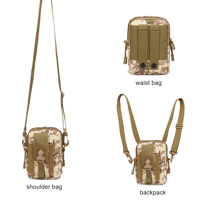 Camping & Hiking Outdoor Militarytactic Bag Nylon Waterproof Waist Bag Camouflage Sports Bags For Camping Hiking Molle Tactic Shoulder Bag Picnic Bags