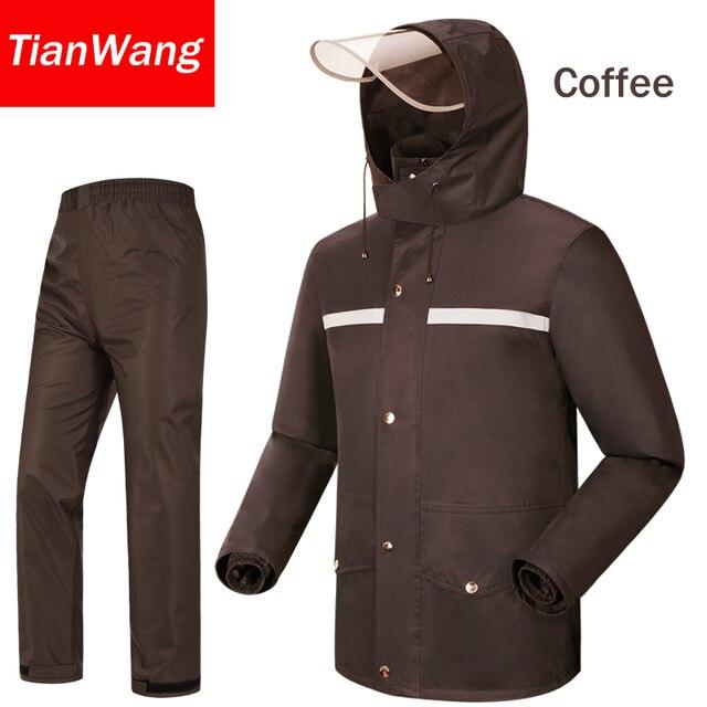 Tianwang waterproof rainproof Rain Jacket Women & Men's suit hood raincoat for motorcycle raincoat outdoors camping fishing 5