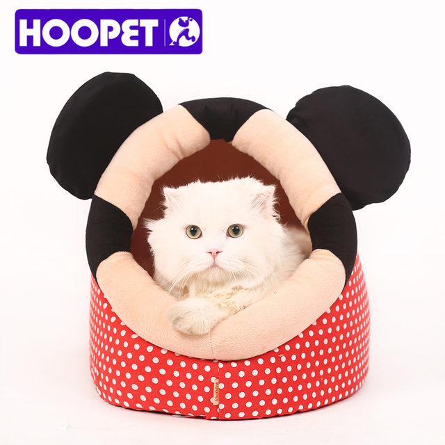 HOOPET Lovely Pet Dog Cat Bed Warm Soft Sleeping Bag Cuddly Cave Completely Removable Cover Cushion with Zipper