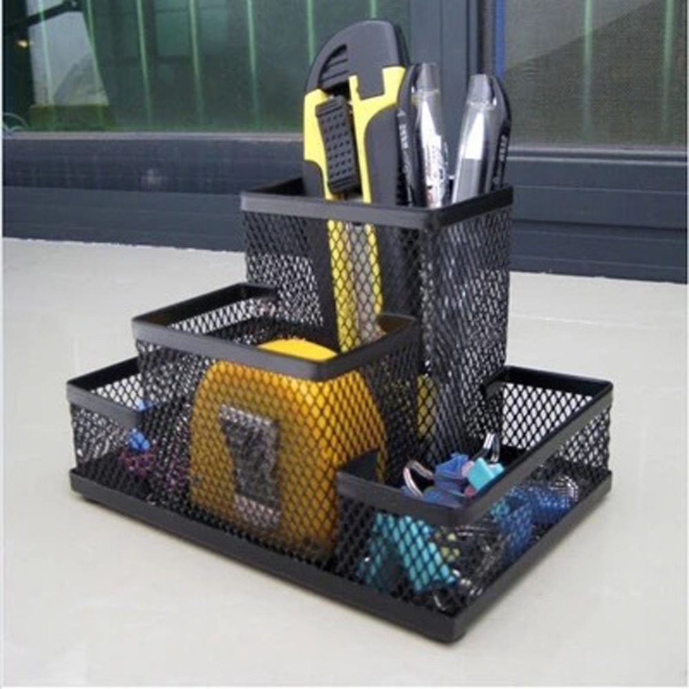 Mesh Cube Metal Stand Combination Holder Desk Desktop ...