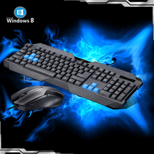 Pro Gaming Office Keyboard And Mouse Combos Set With Waterproof Optical keyboard Ergonomic Mice Suit for Loptop Tablet logitech mk245 2 4ghz wireless mouse and keyboard combos set support waterproof 1000dpi with tiny nano receiver ergonomic design