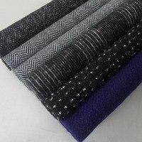 multicolor 100% wool Twill tweed wool fabric use women's overcoat, herringbone warm tweed coat fabric