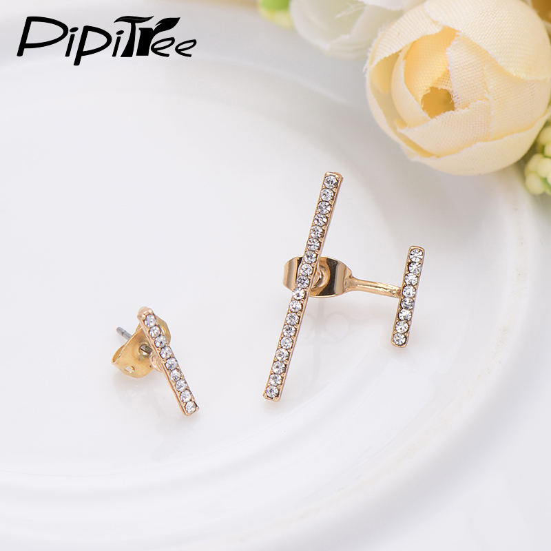 2017 Newest Simple Design Gold Color Punk Bar Earring For Women ...