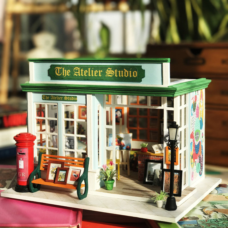 Wooden Diy Dollhouse Toy Miniature Box Puzzle Dollhouse Diy Kit Doll