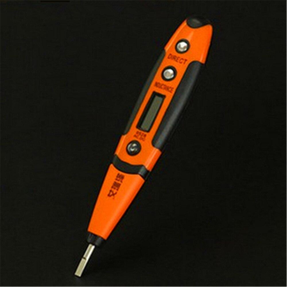 1 Stück Industrie Blau Led-anzeige Clip Spannung Tester Ac Dc 12-250 V Electroprobe Messung Stift Ohne Led Lampe