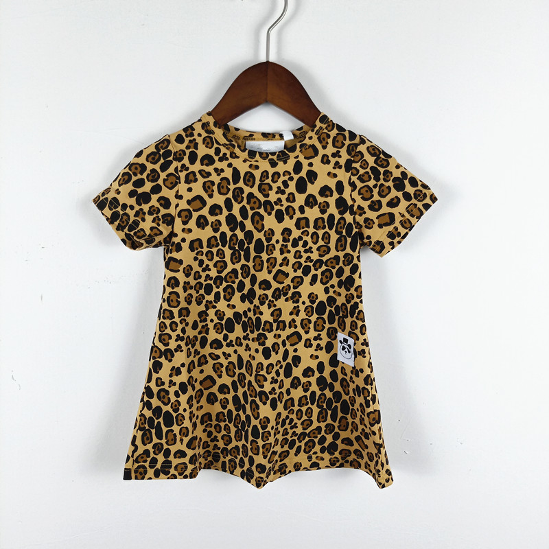 BOBOZONE Leopard print dress for kids girls summer dressBOBOZONE Leopard print dress for kids girls summer dress