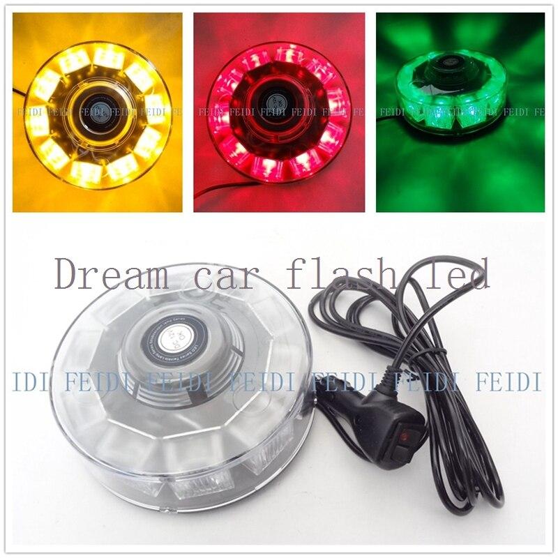 Новый 01002 12 В 10 светодиодный 10 Вт авто светодиодный маяк аварийного релаксирующие огни проблесковый маяк светлый янтарь красного и синего цвета