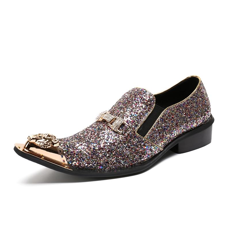 Casamento Luxo Shinny Dos Glitter Batzuzhi Roxo Oxfords Marca Partido New Sapatos Sapatas De Das Us12 Handmade Itália Homens Tamanho Do Apartamentos Moda vSwSAYfqp