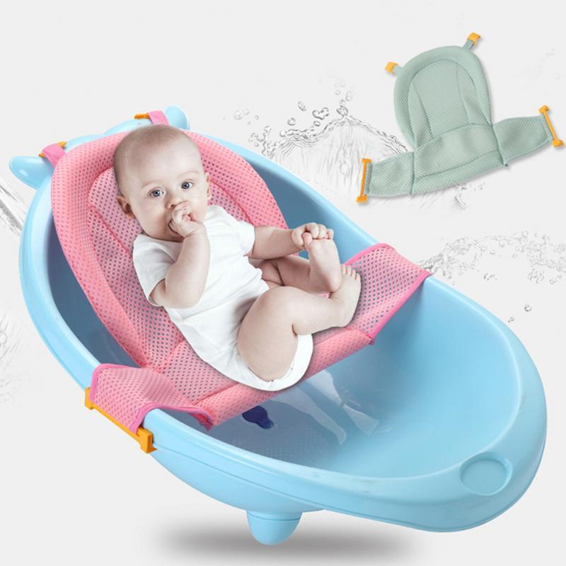 UK Infant Baby Bath Support Bathtub Shower Anti-slip Pink//Blue Pad Cushion Mat