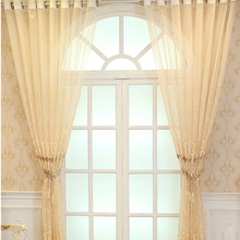 New Floral Luxury Embroidered Sheer Curtains for Living Room Bedroom Kitchen Voile Sheer  for Window Curtains Drapes Decoration цена и фото