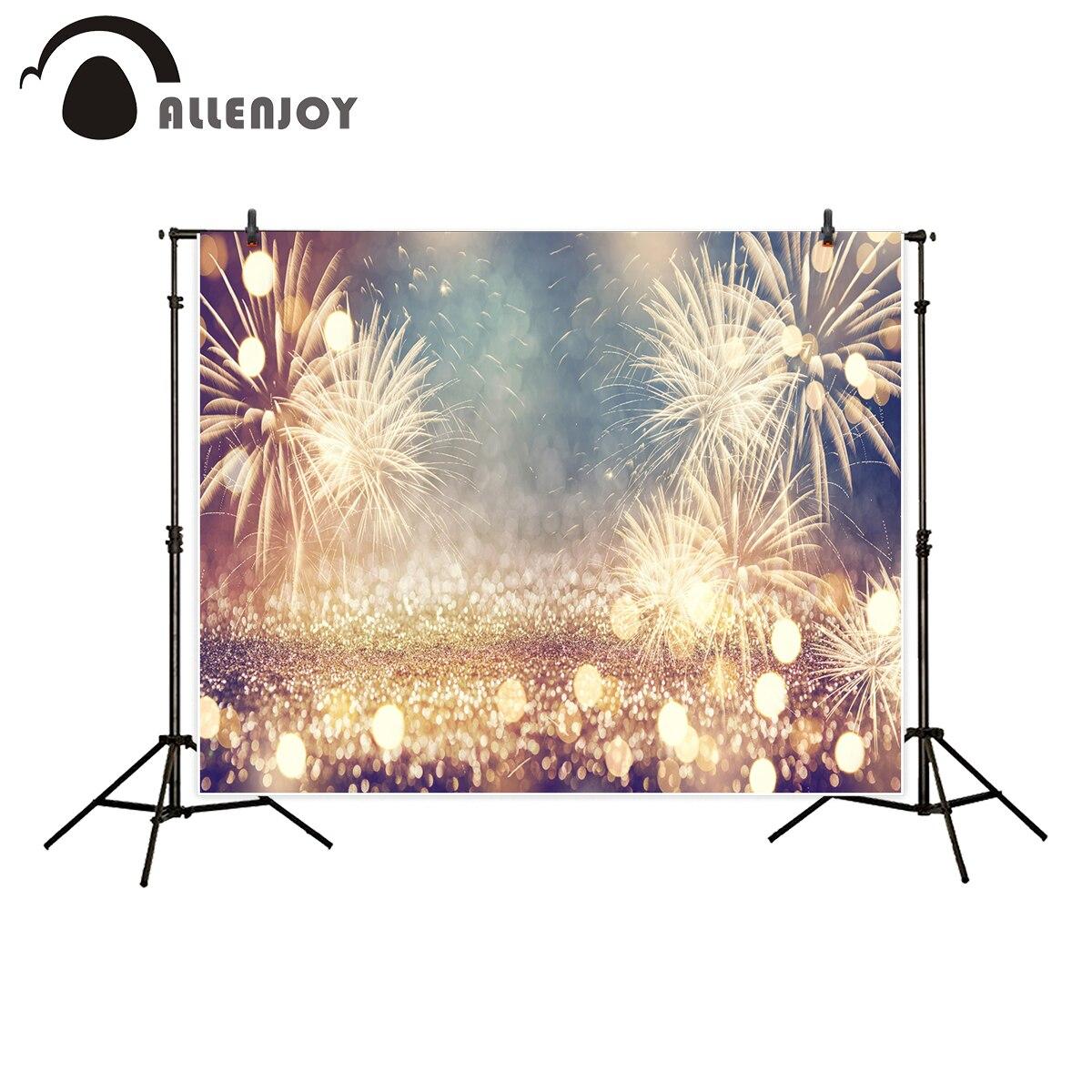 Allenjoy de photographie vintage or feux d'artifice bokeh nouvel an eve fond photo studio nouveau design caméra fotografica