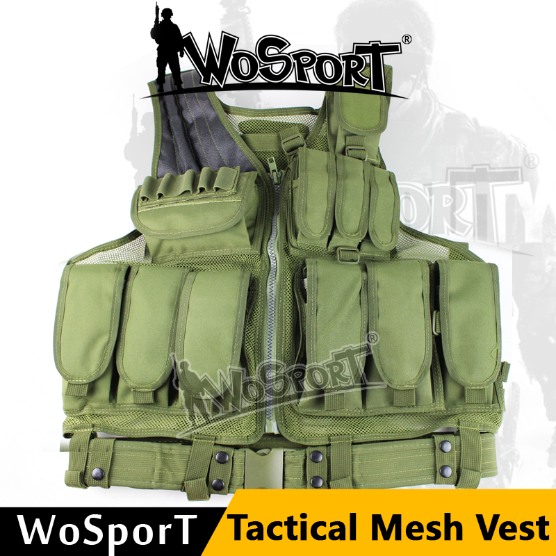 WoSporT Tactical Vest Airsoft Paintball Wargame Protective Safety Hunting Combat Outdoor Training Clothes Gear Waistcoat ghost skull full face mask cosplay balaclava paintball cs hood wargame airsoft hunting army tactical masks