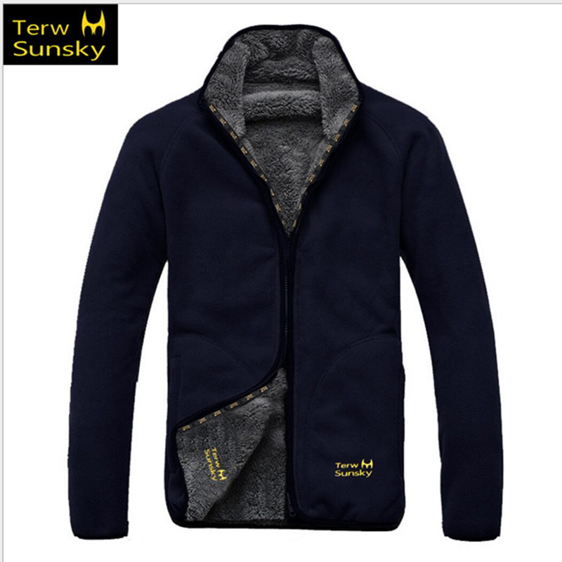Free Shipping HOT SALE Winter Terwsunsky MEN HQ Outdoor Double Side Fleece Clothing Thickening Outdoor Jacket Liner TR005 in Hiking Jackets from Sports Entertainment