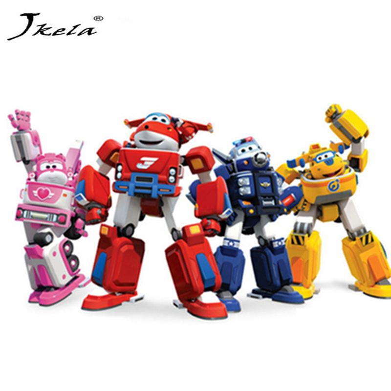 [Jkela] 17cm Super Wings Transformation toys Deformation Airplane Robot Action Figures Super Wing for children gift action 15 cm jimbo super wings mini airplane abs robot toys action figures super wing transformation jet animation children kids gift