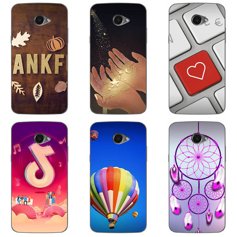 Soft Silicone Phone Cases For LG K5 X220/K5 <font><b>X220ds</b></font>/ K5 Dual Sim /X220mb Phone Case Back Cover Coque Print painting Flower style image