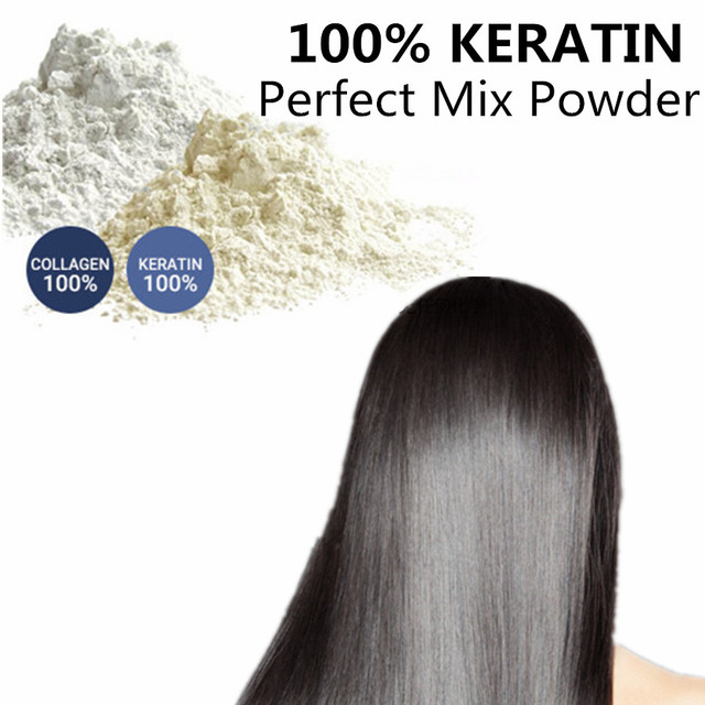 100% Keratin and 100% collagen natural hair Scalp care vitamins treatment perfect mix powder BCCA for fill up better than Lador