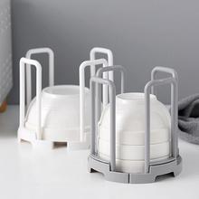 Simple Retractable Storage Rack Kitchen Water House Dish Bowls Shelf Plastic Sucker Organizing Holder Drainer