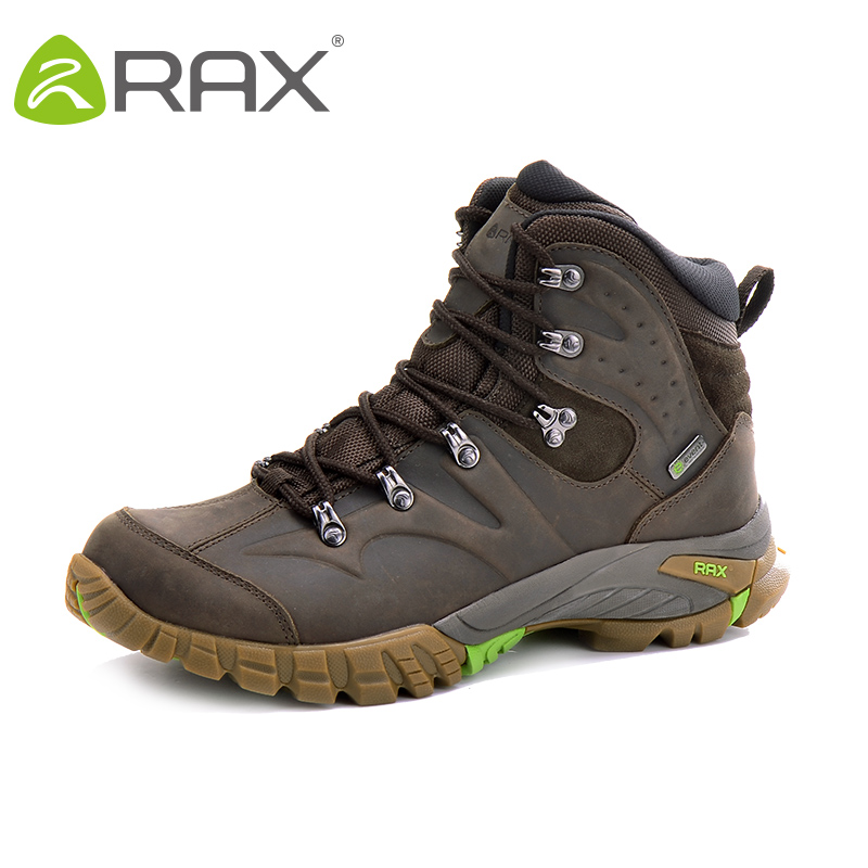 RAX  Waterproof Climbing Boots Woman Leather Outdoor Boots for Mountain with Event Waterproof Socks Lining Mens