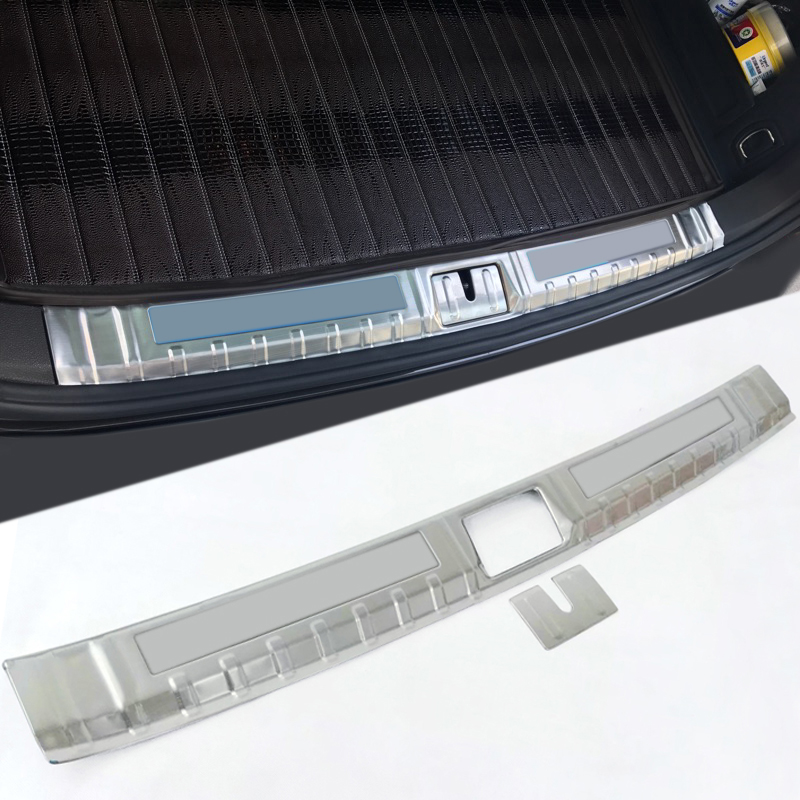Interior Stainless Steel Rear Boot Trunk Fender Plate Trim