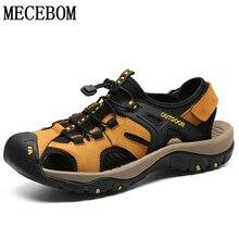 2019 Новый Для мужчин летние сандалии из натуральной Повседневная кожаная обувь для мужчин плюс Размеры 45 Для мужчин пляжные сандальи Zapatillas hombre 7239 м