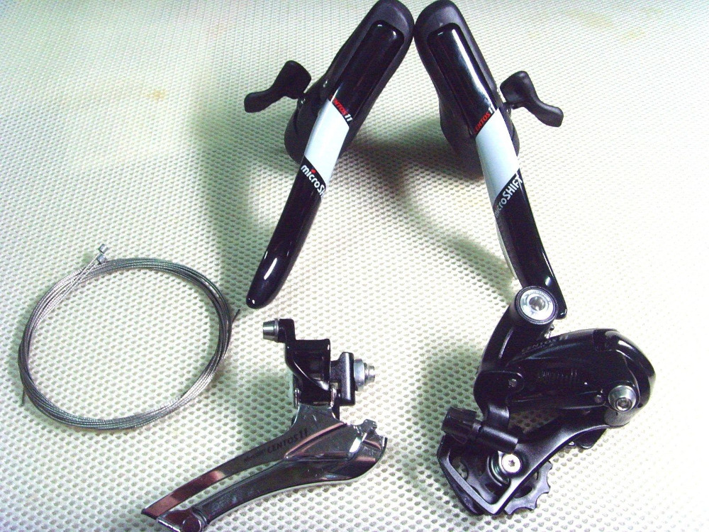 New 2x11 Speed,microSHIFT CENTOS STI Shifters Groups Derailleur,For Shimano Shift Brake Lever microshift centos black double 10 speed group set hidden cables for shimano page 9